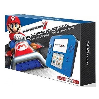 Nintendo 2DS Electric Blue 2 Mario Kart 7+Cargador